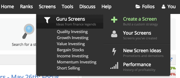 The Guru Screens - Stockopedia